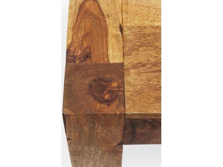 Stół Authentico 160x80 cm brązowy Wysokość 75 cm Szerokość 160 cm Drewno Rozkładanie Długość 160 cm  Styl Industrialny