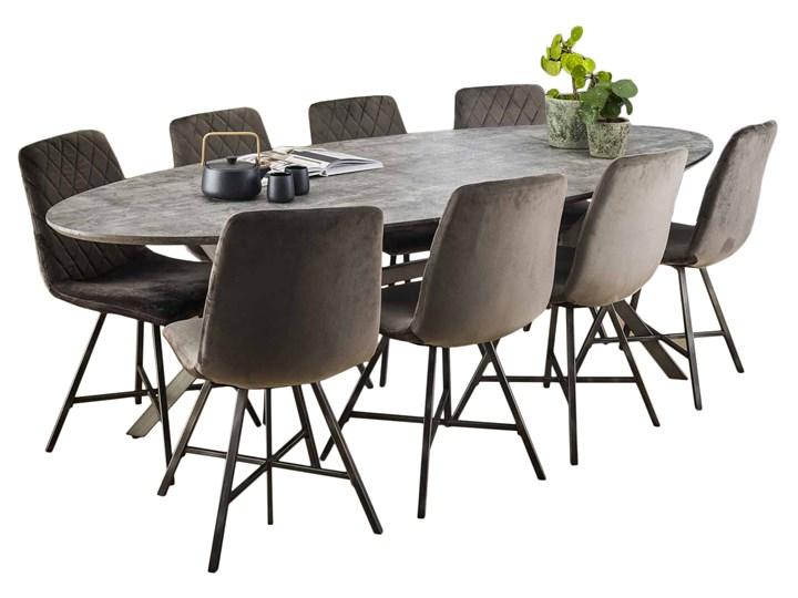 Stół Concrete Oval 240x105 cm szary Rozkładanie Beton Długość 240 cm Kategoria Stoły kuchenne