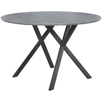 Stół Fiko 120 cm szary - nogi czarne
