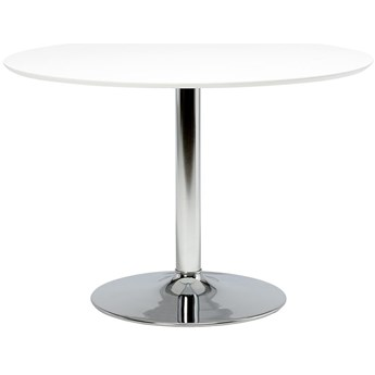 Stół Gail Ø110 cm biały noga srebrna
