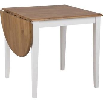 Stół rozkładany Galson 75-115x75 cm nogi białe