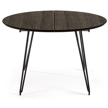 Stół rozkładany Norfort 120-200x120 cm czarny