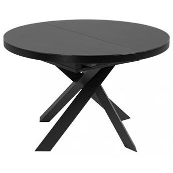 Stół rozkładany Vashti ∅120-160x76 cm czarny