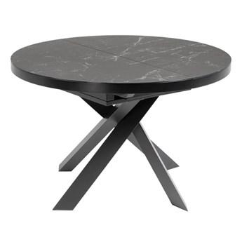 Stół rozkładany Vashti ∅120-160x76 cm szary