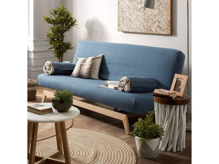 Stolik kawowy Druf Ø35 cm biało-drewniany Drewno Kolor Brązowy Kategoria Stoliki i ławy