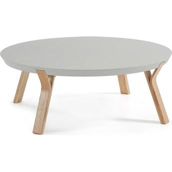 Stolik kawowy Solid Ø90 cm jasnoszary/jesion