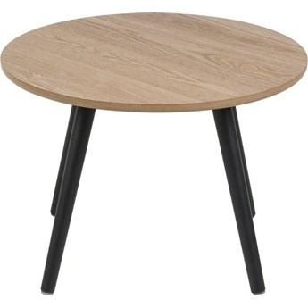Stolik kawowy Feldman ∅50 cm naturalny nogi czarne