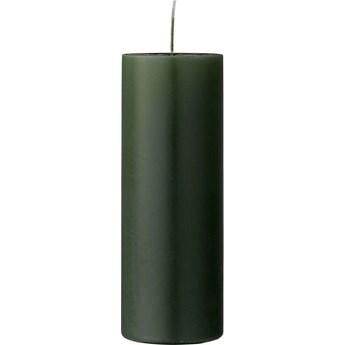 Świeca Paraffin Ø7x20 cm ciemnozielona