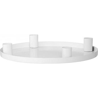 Świecznik Advent 4x25 cm biały