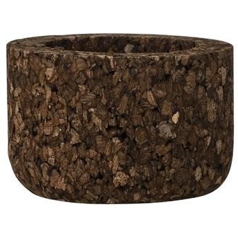 Świecznik Cork 4x6 cm drewniany
