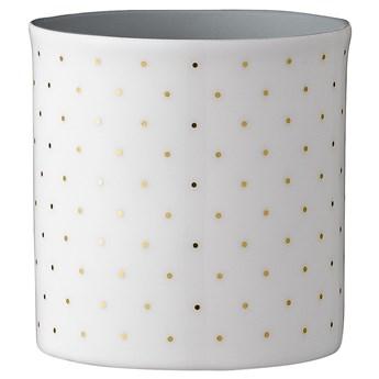 Świecznik Dotted 6x6 cm biało-fioletowy