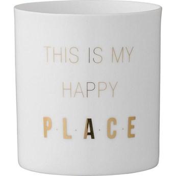 Świecznik Gold Print Happy Place 8x6 cm złoty