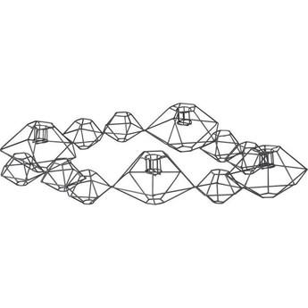 Świecznik Pernille 46x37 cm ciemnoszary