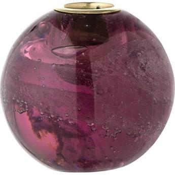 Świecznik Purple 8x8 cm fioletowy