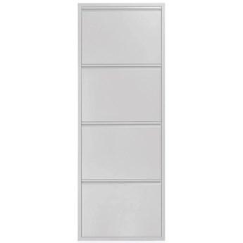 Regal na buty Ode 50 x 136 cm 4 drzwi biały