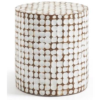 Taboret Coconut Ø40x42 cm biały