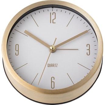 Zegar Am Ø12 cm biało-złoty