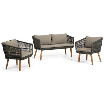 Zestaw mebli Inti 2-osobowej sofy i 2 foteli z zielonej liny FSC 100%
