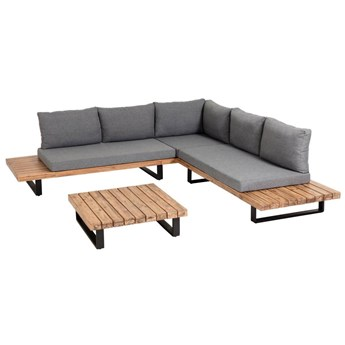 Zestaw mebli Zalika 5-osobowej sofy i stolika kawowego z litego drewna akacjowego FSC 100%