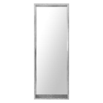 Lustro ścienne wiszące srebrne 50 x 140 cm