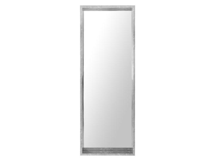 Lustro ścienne wiszące srebrne 50 x 140 cm Kolor Srebrny Lustro z ramą Prostokątne Kategoria Lustra