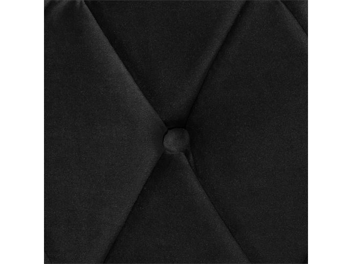 Łóżko ze stelażem czarne welurowe 180 x 200 cm z zagłówkiem pikowane styl glamour Łóżko tapicerowane Drewno Rozmiar materaca 180x200 cm Łóżko pikowane Styl Vintage