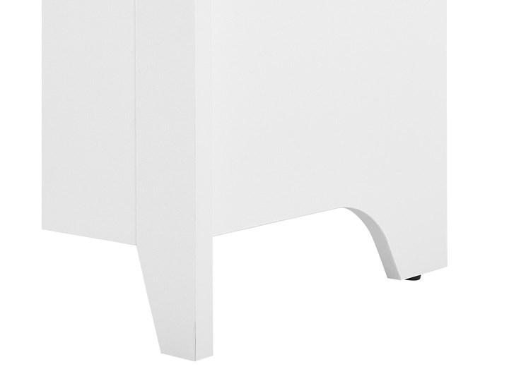 Komoda jasne drewno biała płyta pilśniowa skandynawski design 3 szuflady dwudrzwiowa przechowywanie do salonu Kolor Biały Płyta MDF Z szafkami Styl Minimalistyczny