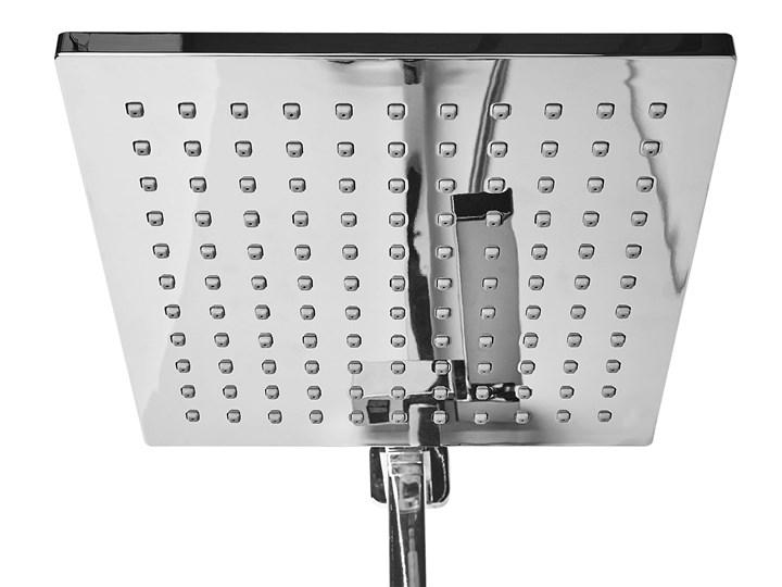 Kolumna prysznicowa srebrna mosiężna bateria z deszczownicą i słuchawką nowoczesna Wyposażenie Z słuchawką
