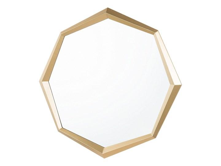 Lustro ścienne wiszące złote geometryczne ośmiokąt 71 cm