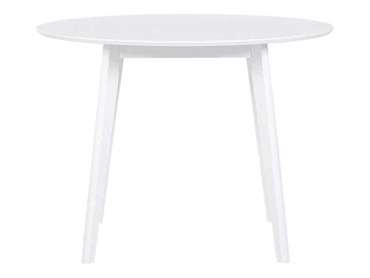 Zestaw do jadalni biały płyta MDF okrągły stół z 4 krzesłami komplet mebli kuchennych Pomieszczenie Jadalnia Pomieszczenie Salon