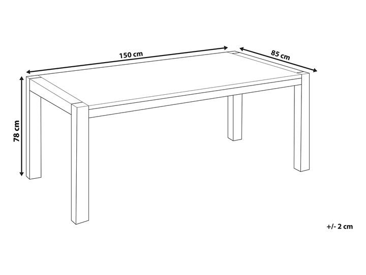 Stół do jadalni jasnobrązowy drewniany dębowy prostokątny 150 x 85 cm minimalistyczny Rozkładanie Drewno Długość 150 cm  Pomieszczenie Stoły do jadalni