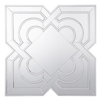 Lustro ścienne srebrne 80 x 80 cm styl orientalny marokański
