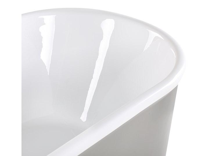 Wanna wolnostojąca srebrna akrylowa owalna nowoczesna minimalistyczna Kolor Srebrny Retro Wolnostojące Kategoria Wanny