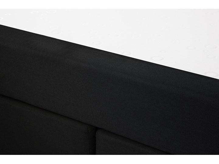 Łóżko kontynentalne czarne tapicerowane 180 x 200 cm dwuosobowe z materacem i pikowanym zagłówkiem Łóżko tapicerowane Rozmiar materaca 180x200 cm Kolor Czarny