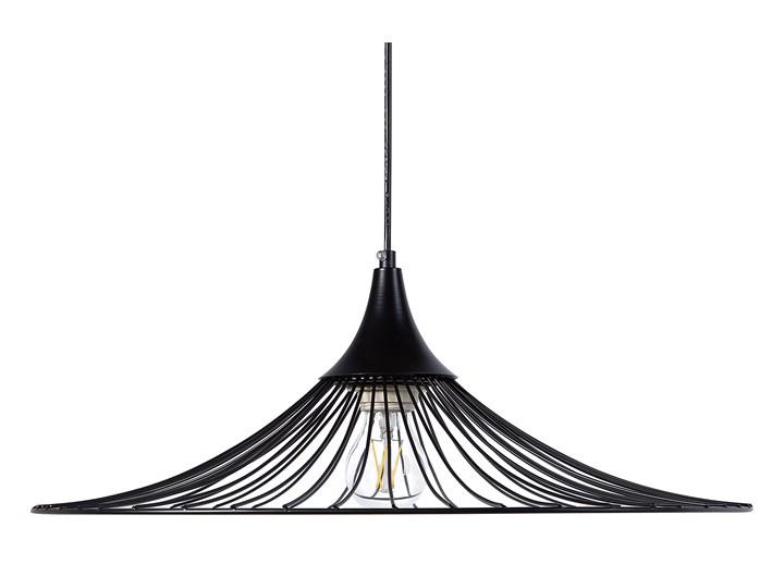 Lampa sufitowa wisząca czarna metalowy klosz industrialny design sypialnia kuchnia Lampa z kloszem Lampa druciana Kolor Czarny
