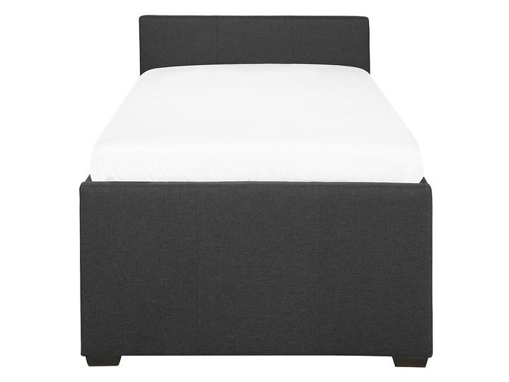 Łóżko dziecięce wysuwane ze stelażem ciemnoszare tapicerowane tkaniną 80 x 200 cm Łóżko tapicerowane Kategoria Łóżka do sypialni Kolor Szary