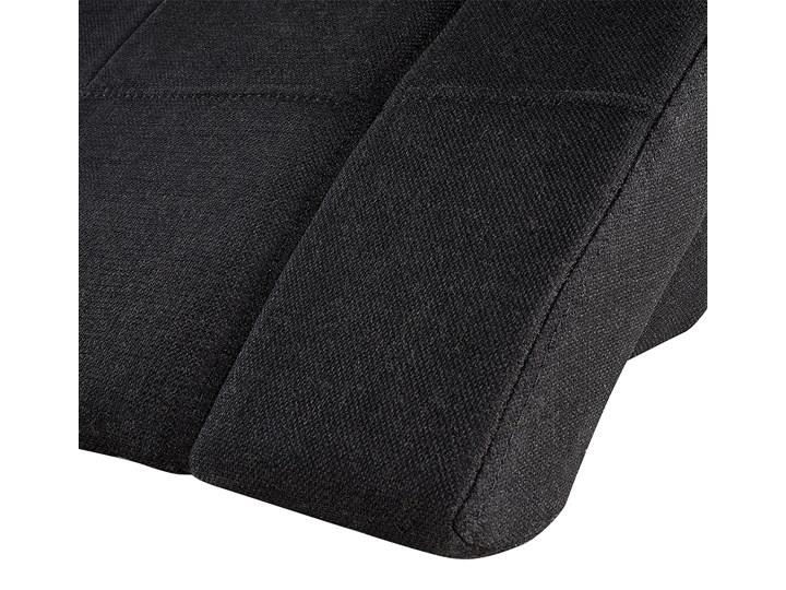 Łóżko ze stelażem tapicerowane tkaniną czarne 180 x 200 cm nowoczesny design falowane Łóżko tapicerowane Kolor Czarny