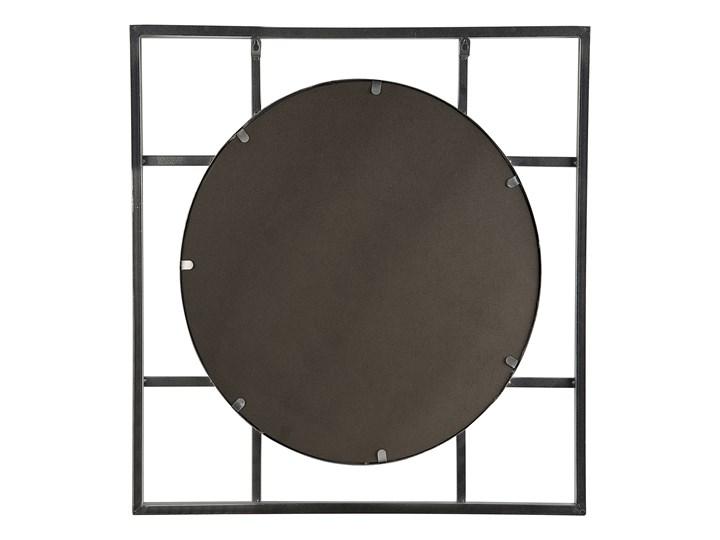 Lustro ścienne wiszące srebrne 71 x 71 cm nowoczesne łazienka salon Okrągłe Lustro z ramą Pomieszczenie Sypialnia