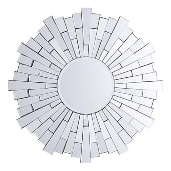 Lustro wiszące ścienne srebrne okrągłe 70 cm salon sypialnia