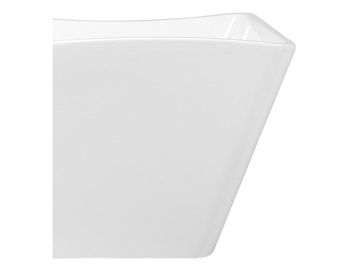 Wanna wolnostojąca biała akrylowa 170 x 78 cm system przelewowy prostokątna glamour Długość 170 cm Stal Symetryczne Wolnostojące Kolor Biały Kategoria Wanny