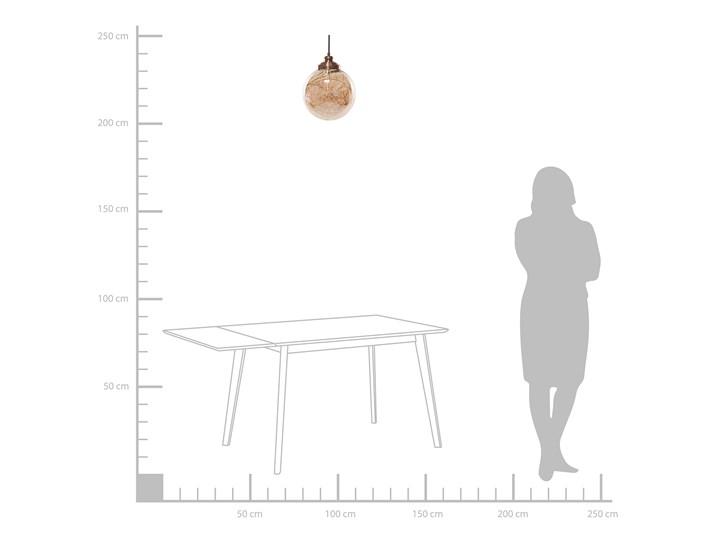 Lampa sufitowa szklana kulisty klosz metalowe elementy w kolorze miadzianym nowoczesna Szkło Styl Nowoczesny Lampa z kloszem Kategoria Lampy wiszące