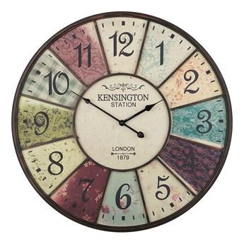 Zegar ścienny kolorowy żelazny Ø 59 cm dworcowy retro design