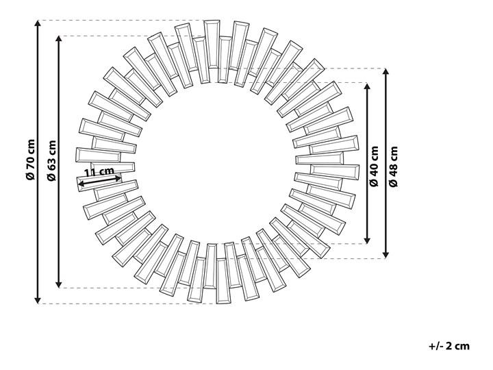 Lustro srebrne okrągłe słońce kształt nowoczesne salon przedpokój Lustro bez ramy Ścienne Kolor Srebrny