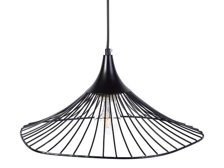 Lampa sufitowa wisząca czarna metalowa okrągły klosz industrialna kuchnia sypialnia Lampa druciana Lampa inspirowana Kategoria Lampy wiszące