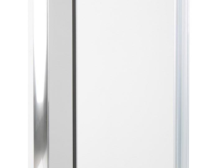 Kabina prysznicowa srebrna szkło hartowane aluminum podwójne drzwi 80x90x185cm nowoczesny design Kwadratowa Rodzaj drzwi Rozsuwane
