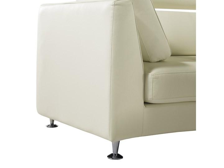 Sofa półokrągła kremowa skórzana 8 miejsc moon salon duży pokój nowoczesna Kolor Beżowy Stała konstrukcja Szerokość 448 cm Styl Nowoczesny