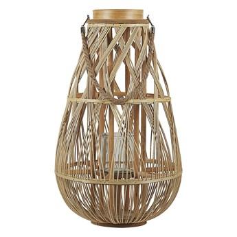 Lampion dekoracyjny jasny bambusowy 56 cm ozdoba latarenka na świeczkę TONGA