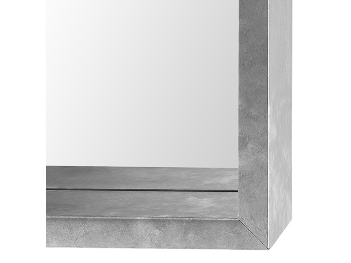 Lustro ścienne wiszące srebrne 50 x 140 cm Lustro z ramą Prostokątne Styl Nowoczesny Kategoria Lustra