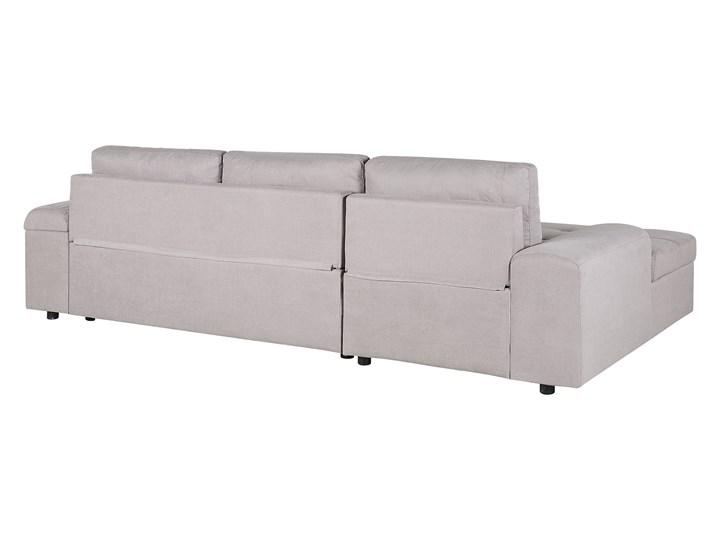 Narożnik rozkładany jasnoszary sofa narożna do salonu kanapa z funkcją spania z pojemnikiem skandynawska Boki Z bokami W kształcie L Styl Skandynawski