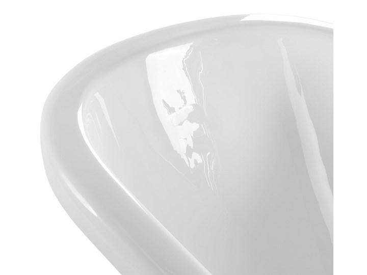 Wanna wolnostojąca biała akrylowa 170 x 80 cm system przelewowy owalna retro Długość 170 cm Wolnostojące Kolor Biały Kategoria Wanny